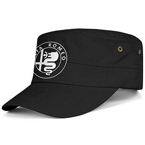 Alfa-Romeo-Logo- Sombrero Militar de algodón Unisex Gorra...