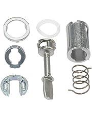 KKmoon Kit de reparación de cilindro de puerta, parte delantera izquierda y derecha, piezas de repuesto para PASSAT LUPO AROSA LEON TOLEDO