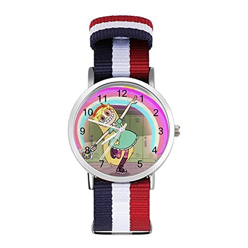 Star Vs. Forces of Evil - Reloj de ocio para adultos, moderno, bonito y personalizado de aleación, reloj deportivo informal para hombres y mujeres