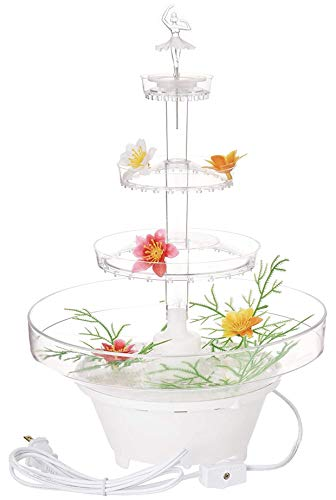 """Crafts Central 13"""" Inch Lighted Plastic Water Fountain for Weddings or Cake Centerpiece"""