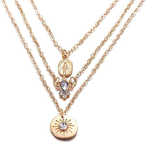 quanjiafu Necklace Shell Map Beads Necklace for Women Y Gold Sliver Multi Layer Necklaces & Pendants Necklace
