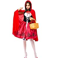 Halloween 高品質 ハロウィン 大人cosplay 仮装 衣装 コスプレ コスチューム♪赤ずきん メイド服 パーティー 舞台 イベント 演出服 (M)