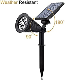 Aootek Solar Spotlights, 2-in-1 Waterproof Adjustable 4 LED Wall/Landscape Solar Lights with Automatic On/Off Sensor for Driveway, Yard, Lawn, Pathway, Garden (1)