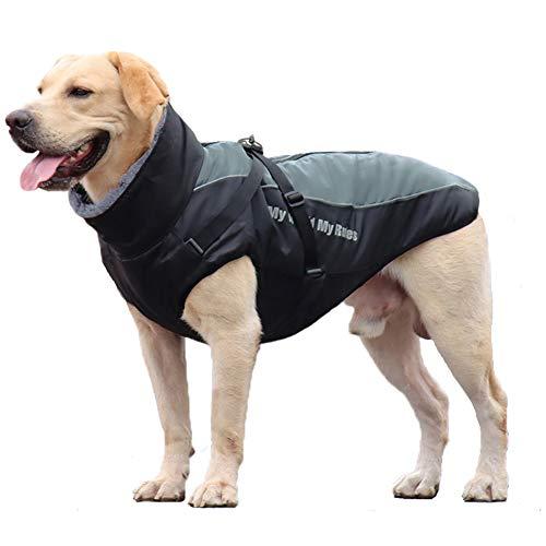 FEimaX Cappotto Invernale Impermeabile per Cani, Giacca Caldo di Peluche Antivento Cucciolo Gilet Riflettente Abbigliamento Invernali per Cane di Taglia Piccolo Media e Grande