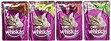 Whiskas Selección Multipack Bolsitas de Comida Húmeda para Gatos Adultos Selección Carnes (12 bolsitas x 100g)