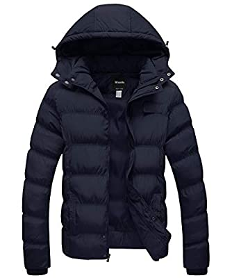 Wantdo Men's Big & Tall Winter Jacket Puffer Windproof Hooded Coat Navy 2X-Large from