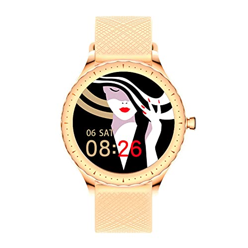 TREWQ Reloj Inteligente Mujer Smartwatch Bluetooth Rastreador De Fitness PulsóMetros Monitor De SueñO IP67 Impermeable Reloj Deportivo, 8 Modos De Deportes, Compatible con Android iOS HarmonyOS,Oro