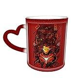 Tazza da caffè grande in ceramica, motivo: Iron Man