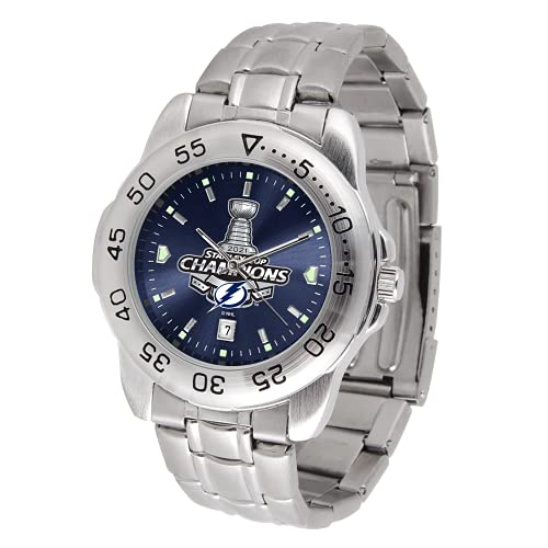 Tampa Bay Lightning Stanley Cup 2021 Champions - Officially Licensed NHL Men's Watch - Sport Steel Series by Game Time
