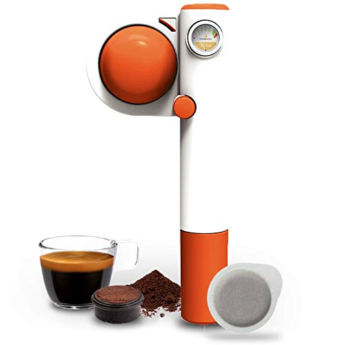 Handpresso 48315 Pump Pop in orange - manuelle Espressomaschine für gehmahlenen Espresso und ESE-Pads