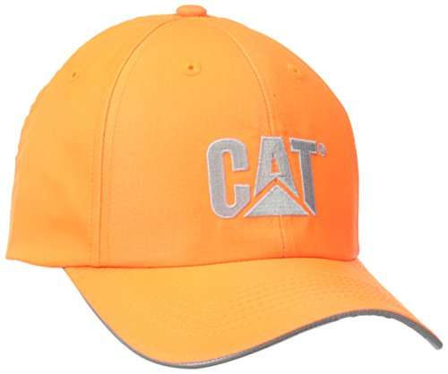 Caterpillar Men's Trademark Cap, Hi-Vis Orange, One Size