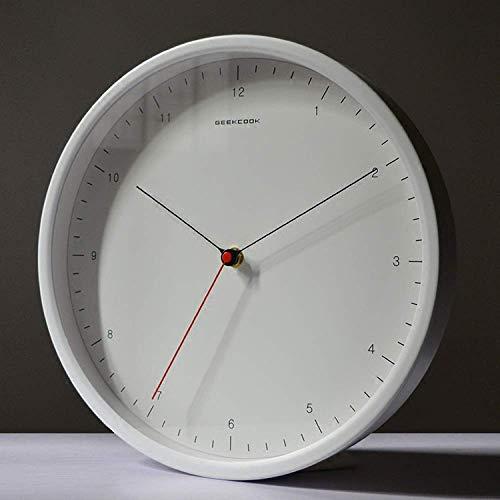 Gymqian Reloj de Pared de la Garrapata Silenciosa de Cuarzo: Ideal para Su Uso en la Oficina, Hogar O Cocina. Movimiento de Cuarzo de Calidad Significa Que el Reloj Es Muy Preciso.