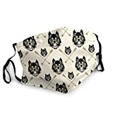 Cool Dreaded Animal Fantasy Wolf Art Dust Face Mask Adjustable Mouth Mask Balaclava Bandanas with Filter Pocket for Teens Men Women