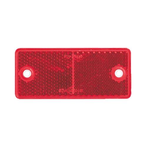 Reflektor / Katzenauge / Rückstrahler rot 90 x 40 mm, mit Befestigungsloch