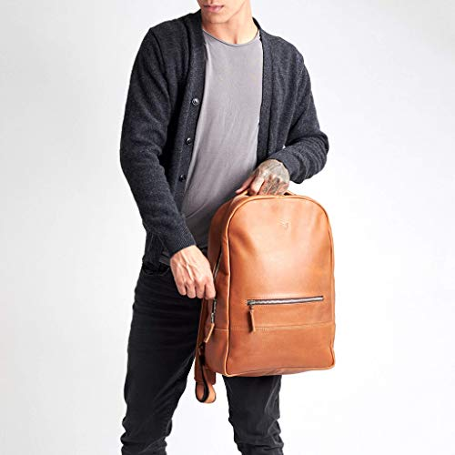 Capra Leather Backpack Laptop