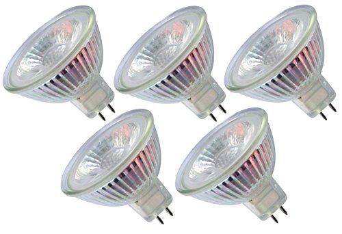 Trango 5er Set LED Leuchtmittel mit MR16 Fassung 5TGMR16-NT3 zum Austausch von herkömmlichen Halogen Leuchtmittel MR16 I GU5.3 I G4-12 Volt 3000K warmweiß Glühlampe, Lampe, Reflektorlampe, led Birnen