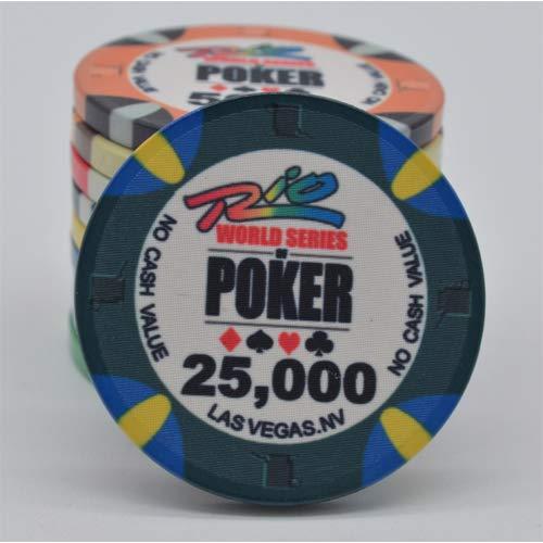 PokerShop Fiches Ceramica WSOP Rio Replica Valore 25000