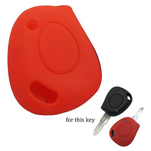 muchkey en silicone 1 Boutons Clé pour télécommande smart Convient pour Renault Koleos CLIO 2012–2014 Fluence