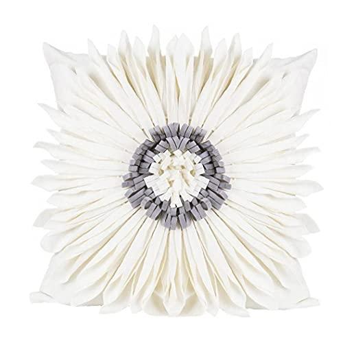 Naisicatar Cubierta de cojín Torre Eiffel Vintage Cajas de Almohadas Hermosa Flor con Tira de Mariposa Cubierta de Almohada Hogar Decorativo para Sala de Estar Sofá Sillón