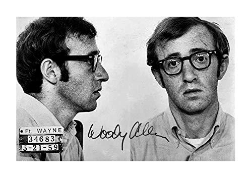 Engravia Digital Woody Allen Mug Shot Poster Reproduction Autgraph Photo A4 Print(Unframed)