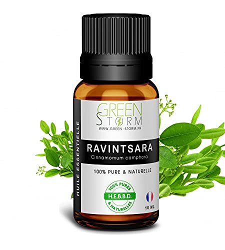Huile Essentielle de Ravintsara - 100% pure et naturelle - HEBBD - Green-storm - 30 ML