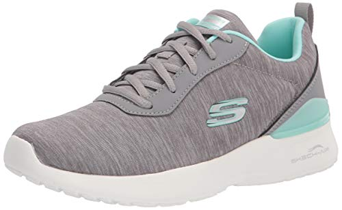 Skechers Tenis Athleisure para mujer., gris (gris, menta ), 41 EU