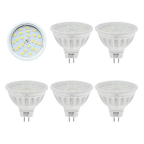 MR16 LED Lampe Ersetzt 50W Kaltes Weiß 6000K 600LM RA85 120°Abstrahlwinkel Gu5.3 Scheinwerfer,AC/DC12V 5er Pack.