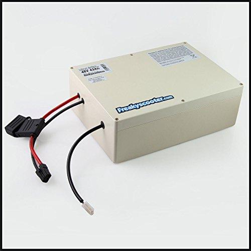 FREAKYSCOOTER Batería de litio Samsung 35E de 48 V y 42 Ah, 2016 Wh con cargador para eScooter