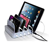 4 Port USB Charging Station for Multiple Devices, Detachable Desktop Docking Station Charging