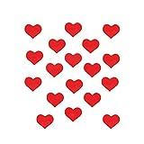 Fhupoy Piastrelle a specchio Adesivi da parete autoadesivi Adesivi da parete effetto specchio a forma di cuore piccolo per soggiorno di casa Camera da letto 100 pezzi Rosso L