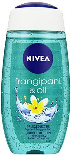 NIVEA Duschgel mit Pflegeöl-Perlen, Exotischer Duft, 250 ml Flasche, Frangipani & Oil