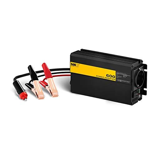 MSW Spannungswandler Wechselrichter Stromwandler MSW-CPI600MS (600 W, DC 12 V zu AC 230 V, modifizierte Sinuswelle inkl. Adapter für Zigarettenanzünder)