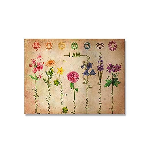 Inicio Ejercicio Gimnasio Yoga Iyengar Tabla de yoga Postura Salud Póster Arte de la pared Cuadro de lienzo retro para la decoración de la sala de estar 50x70 cm x1 Sin marco