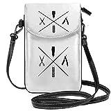 Barbiere negozio taglio di capelli piccolo telefono cellulare borsa borsa smartphone portafoglio borsa borsa con tracolla rimovibile