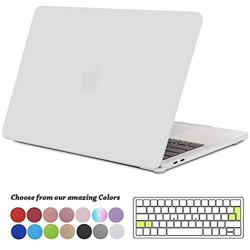 TECOOL Funda para MacBook Pro 13 2016 2017 2018 2019, Plástico Dura Case Carcasa + Tapa del Teclado para MacBook Pro 13.3 Pulgadas con/sin Touch Bar Modelo: A1706 A1708 A1989 A2159, Mate Transparente