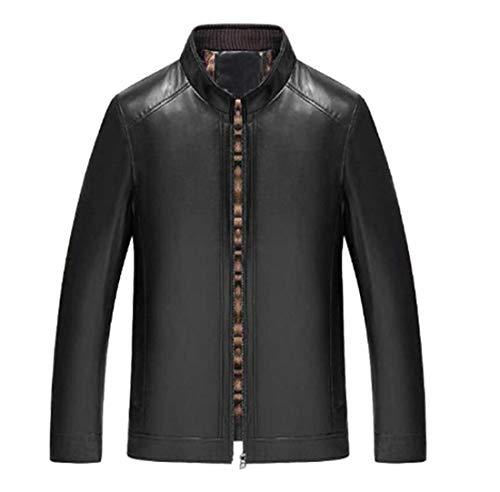 GL SUIT Primavera PU del Collar Chaqueta de Cuero de los Hombres y el otoño de la Motocicleta de Cuero de imitación Abrigo Cazadora Inteligente Slim Fit Casual Chaqueta del Motorista Estilo
