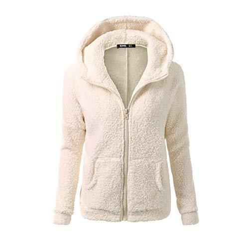 JCZX Winter Damen PlüSch Mode Pullover Sowie Samt Dicke Freizeitjacke