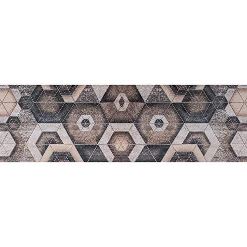 Tappeto PRINTY - Tappeto multiuso antiscivolo per ingresso, cucina, camera, bagno - Lavabile in lavatrice - 50x120 cm