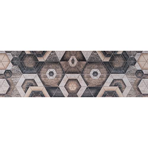 Tappeto PRINTY - Tappeto multiuso antiscivolo per ingresso, cucina, camera, bagno - Lavabile in lavatrice - 50x280 cm