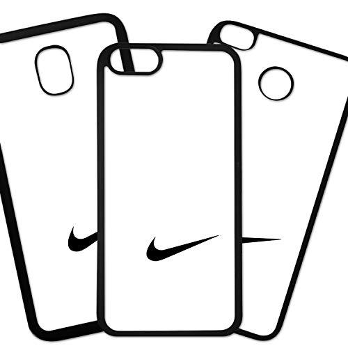 Tuscaprichosonline Fundas De Moviles Carcasas De Moviles Funda Carcasa Compatible con Marca Deportiva Nike Logo Negro Fondo Blanco