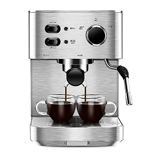 Lowest Price! Espresso Machine Home Small Semi-Automatic Coffee Machine Steam Type All Stainless Ste...