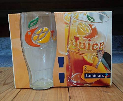 フランス Luminarc オレンジジュース グラスset