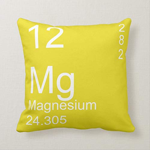 Yilooom 18 X 18 Inch Square Throw Pillow Cases Cushion Covers for Bed Sofa Couch Car Home Decor, Magnesium Throw Pillow Cover