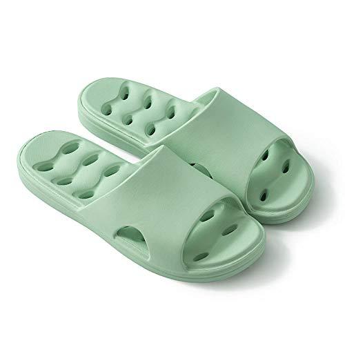 Classic Slide,Sandalias de baño con Desodorante Antideslizante, Zapatillas de baño con Suela Gruesa y Fondo suave-37-38_Verde B,Zapatos de Playa y Piscina para Hombre