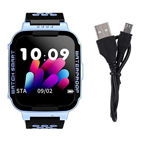Smartwatch per Bambini, 1,44 Pollici Posizionamento Impermeabile per Bambini Smart Touch Watch Protezione per Bambini con Risposta alla Telecamera di Allarme Telefono, Posizione(Blu)