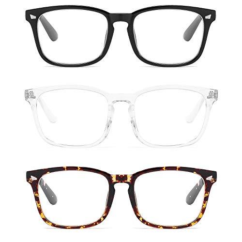 Suertree Antiblauenlicht Lesebrille Computer Brille für Damen und Herren Lesehilfe Sehhilfe Augenoptik Blaulichtfilter 3 stk. 3.00x BM57123