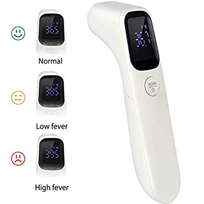 JingXiGuoJi Forehead Infrared Thermometer for Human and Object Laser Non-Contact Thermometer Gun Temperature Instant Readings with LCD Display?FDA Approved?