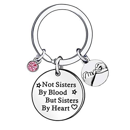 Mejores amigos BFF regalos de cristal de color rosa llavero llavero llavero anillo de Mujeres Niñas Amistad joyería