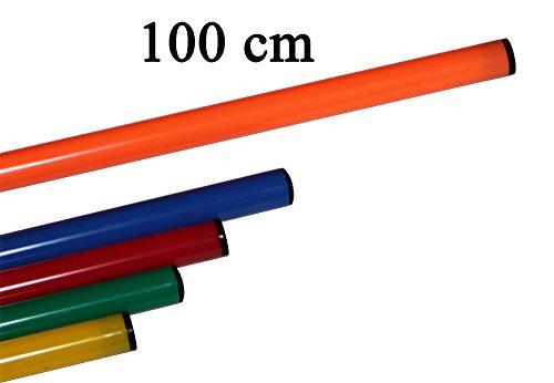Boje Sport - Gymnastikstab für Koordinationstraining, Ausdauertraining, Sprinttraining, Slalomparcours, Trainingshilfe - 120 cm, Farbe: orange