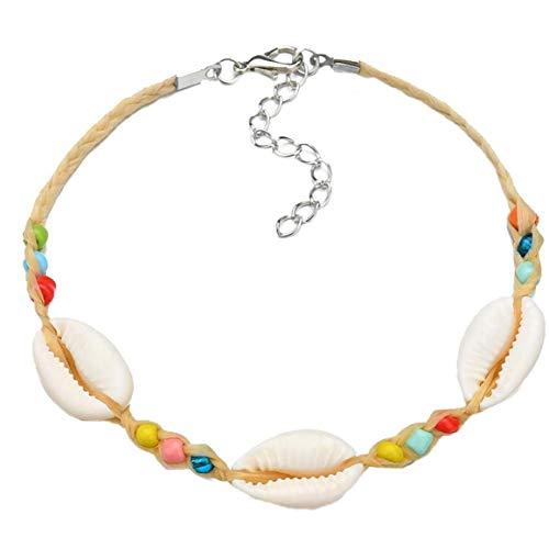 Hotaden Women Resin Anklet Shell Anklet Chain Bohemian Beads Ankle Bracelet Foot Jewelry for Female